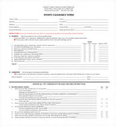 clearance for surgery template 27 sle clearance forms sle forms