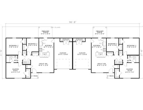 Ranch Duplex Floor Plans | wildbrook acres ranch duplex plan 055d 0396 house plans