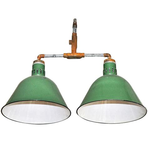 light fixture double pendant industrial light fixture at 1stdibs