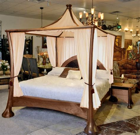 King Size Bed Frame For Sale Gold Coast Contemporary Canopy Bed Modern Canopy Bed Solid Walnut