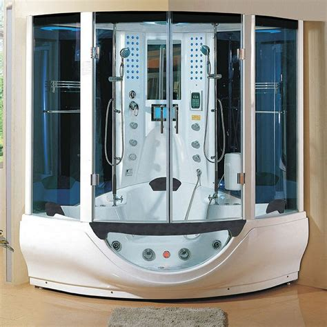 bathtub steam shower combo new 2014 computerized steam shower massage jetted whirlpool hot tub sauna spa more
