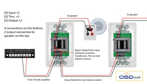 70 volt speaker with volume wiring diagram car