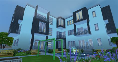 Sims 2 Apartment Update Patch The Sims 4 Modern Apartment House Sims Dels World