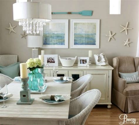beachy home decor beige and aqua color scheme to create a calm