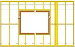 how to frame a window how to frame openings required for door window