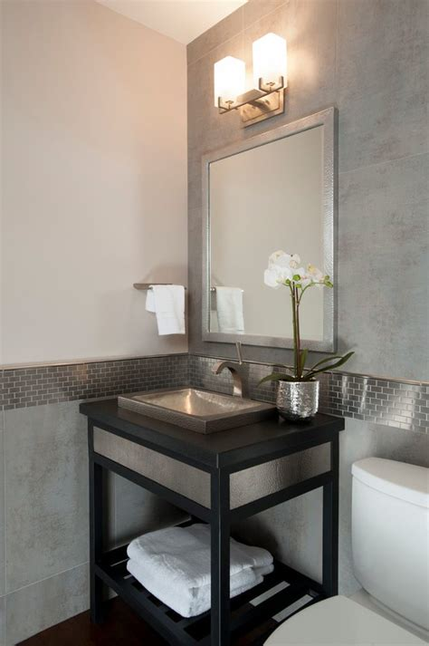 marble wainscoting powder room transitional with marble