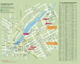 stratford ontario canada map stratford tourist map 47 downie stratford ontario
