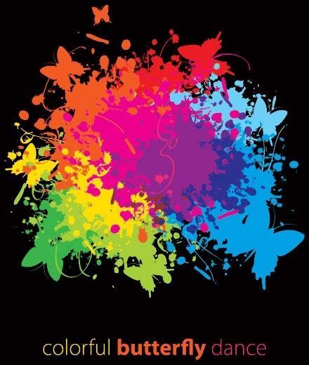 splash of color splash of color pattern 01 vector free vector in