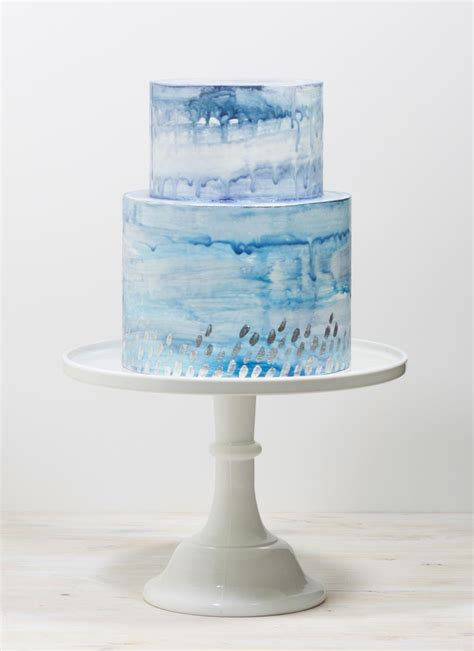 100 blue and silver wedding cake gold and black