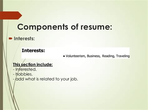 interest resume examples personal interests on hobbies section