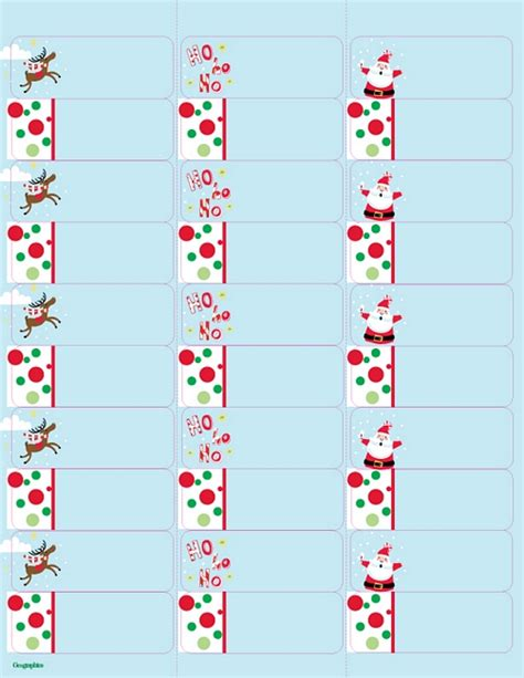 christmas templates for address labels christmas address label clip art 77