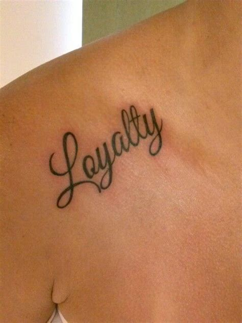 loyalty tattoo on face quot loyalty quot and simple quote and word