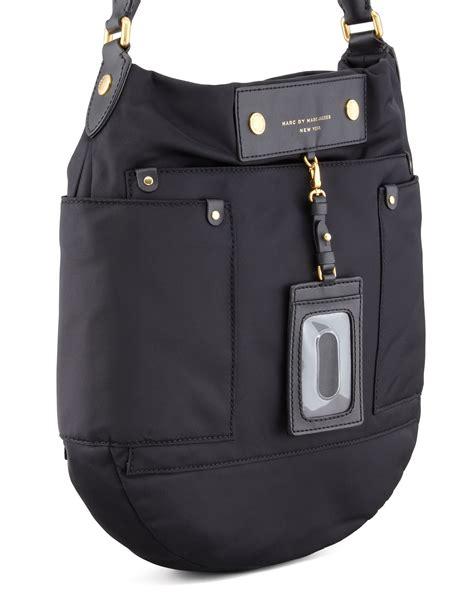 Marc Black marc by marc preppy hobo bag in black lyst