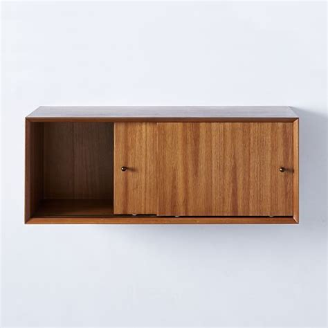 Floating Storage Cabinets Mid Century Floating Cabinet West Elm