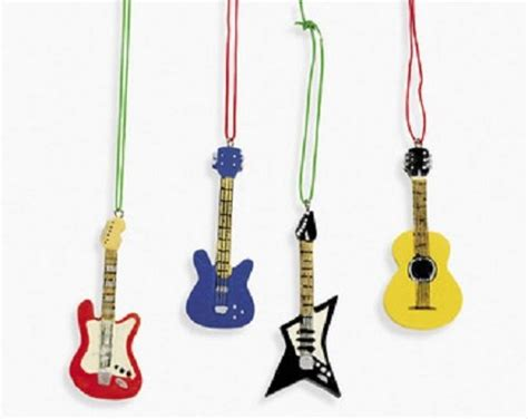 guitar christmas decorations guitar ornaments tree ideas net