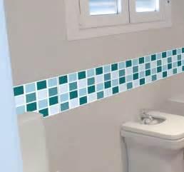 sticker salle de bains frise carreaux tenstickers