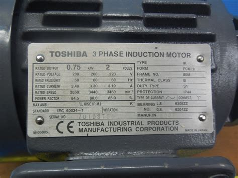 Dijamin Toshiba 3 Phase Induction Motor nikuni 20 skd6 07zu5 3 phase induction motor industrial
