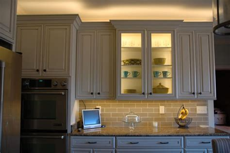 Under Cabinet Strip Lighting Kitchen by Installing Lighting On A Glass Cabinet Inspiredled Blog