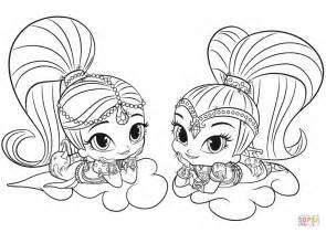 shimmer and shine coloring pages nick jr shimmer and shine coloring page free printable coloring