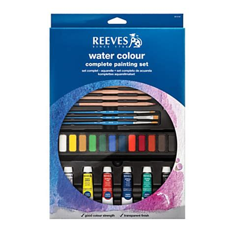 reeves watercolor complete painting set by office depot officemax