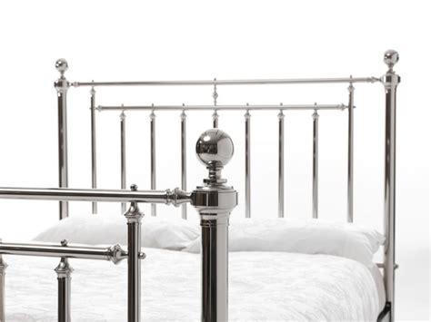 Metal Bed Frame King Size Serene Solomon 5ft King Size Nickel Metal Bed Frame By Serene Furnishings