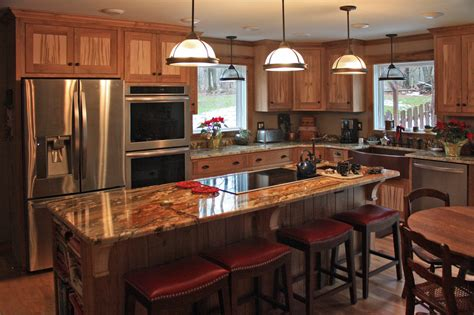 Kitchen Island With Seating For Small Kitchen by Custom Kitchen Cabinetry Woodmansee Woodwrights Custom