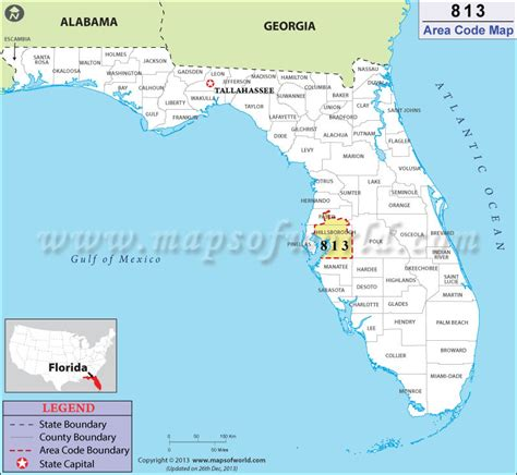 Area Code 813 Lookup 813 Area Code Map Where Is 813 Area Code In Florida