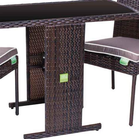 arredo giardino rattan prezzi set tavolo 2 sedie marrone poly rattan enrico coveri