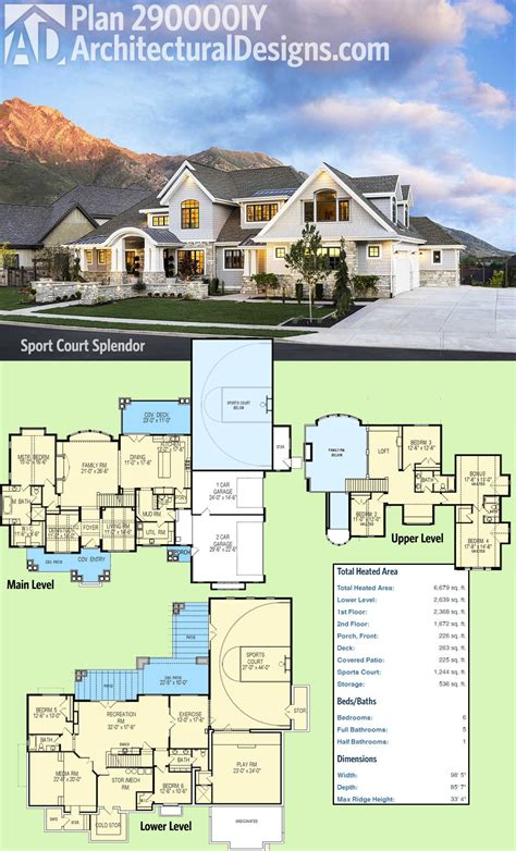 fancy house plans plan 290000iy sport court splendor luxury houses