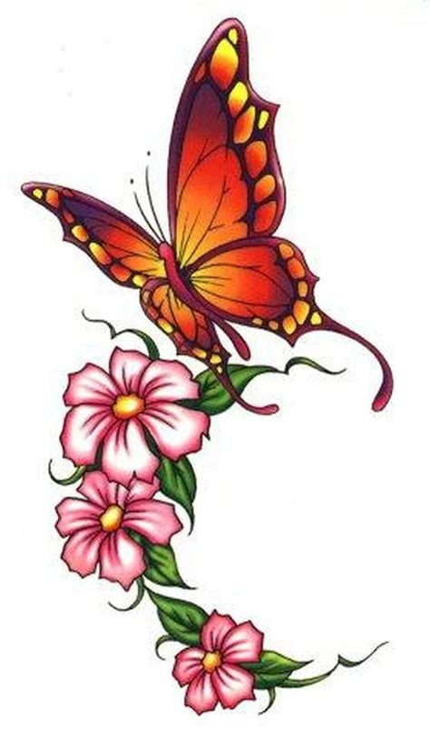 beautiful butterfly flowers tattoo design tattoos book