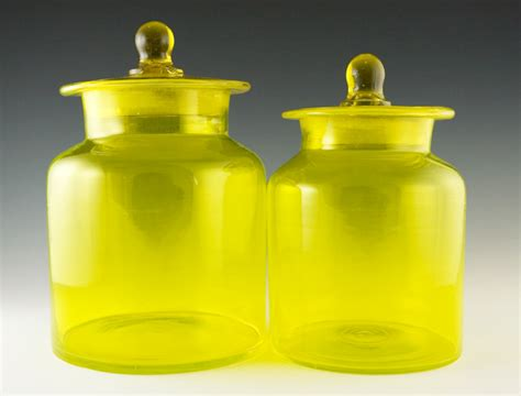 yellow kitchen canister set vintage kitchen canister set in lemon yellow retro glass