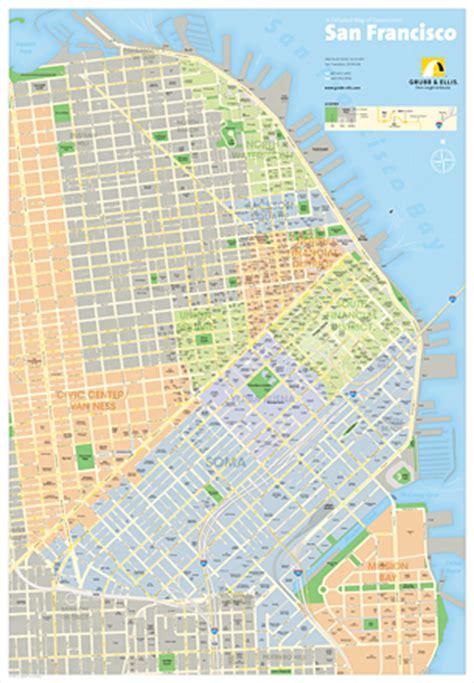 san francisco downtown map printable abe bingham graphic design