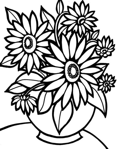 coloring pages flower coloring pages printable free free