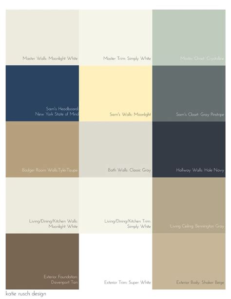 rusch design picking a palette for your whole house colors paint colors