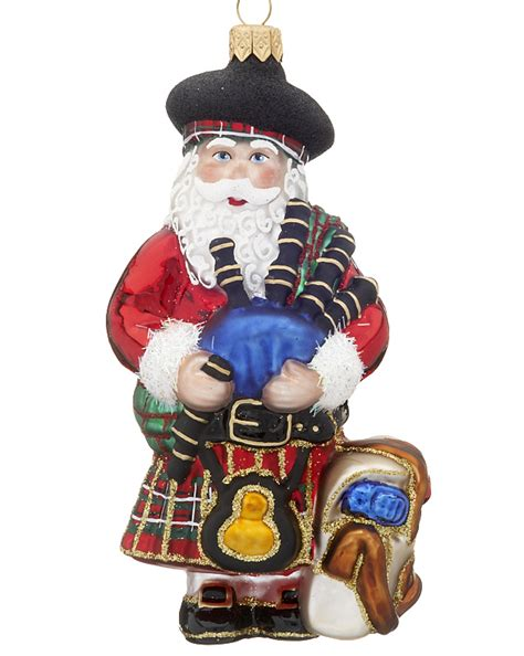 scottish ornaments scottish santa ornament santa