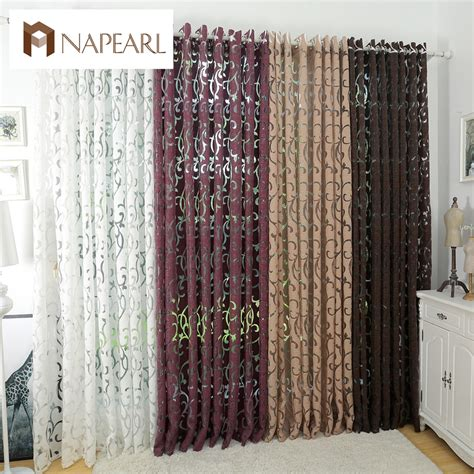 blackout kitchen curtains aliexpress com buy luxury fashion style semi blackout