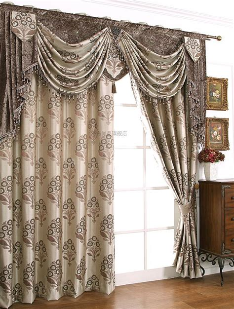 curtain draping best hometextile new arrival customized tree jacquard grey