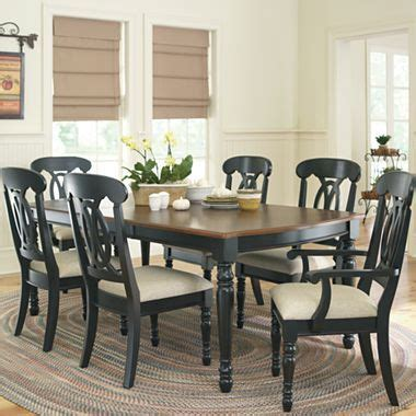 jcpenney dining room sets raleigh 7 pc dining set black