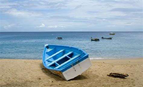 fishing boat on the beach fishing boat on beach castara picture of kennedy island