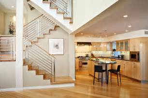 Inter Stairs And Kitchen Design Condo Renovation Contemporary Kitchen Los Angeles By Synthesis Inc