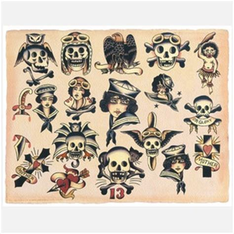 vintage tattoo flash vintage flash skulls ink n
