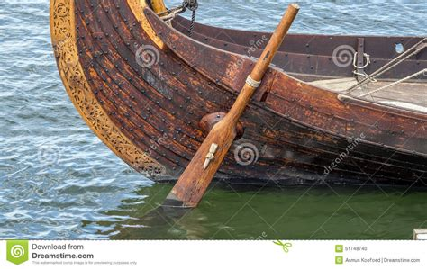 stern boat rudder viking ship rudder stock photo image of boat norse