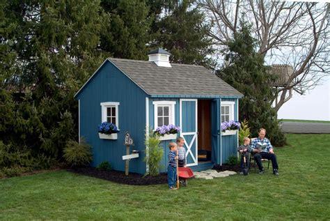 garden shed  blue wood siding    hayward