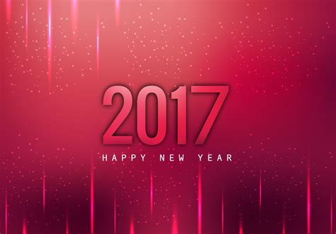 new year cards vector glowing 2017 happy new year card free vector