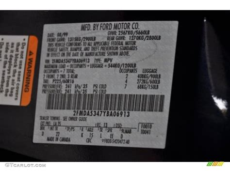 2000 windstar color code la for medium royal blue metallic photo 38451480 gtcarlot