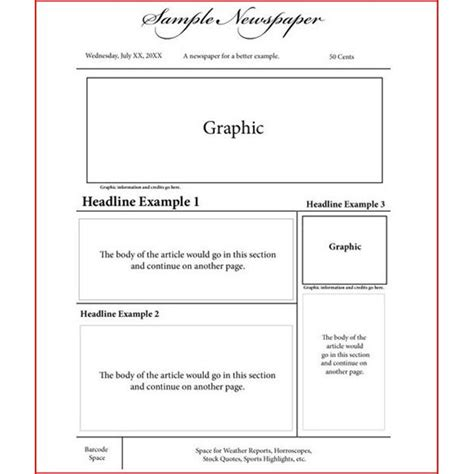 newspaper article layout template newspaper article layout template