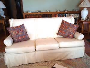 White slipcovers wingback sofa slipcover magic before amp afters