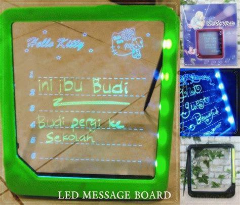 Digital Clock Alarm Led Memo Board Jam Weker Papan Lu Tulis Gambar papan tulis unik yang bisa menyala harga jual