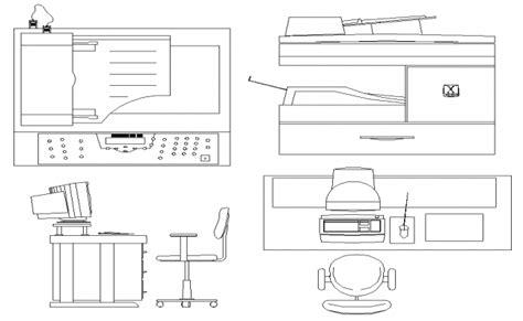 elevation desk computer table chair desk elevation dwg file