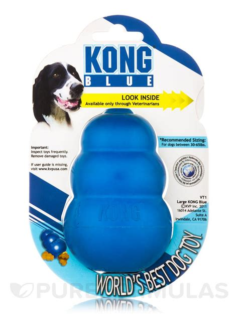 kong for dogs kong 174 blue for large dogs 30 65 lbs 15 30 kg 1 count